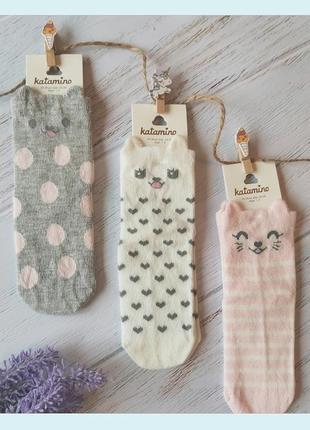 Комплект-набор носки хлопковые для девочки. katamino