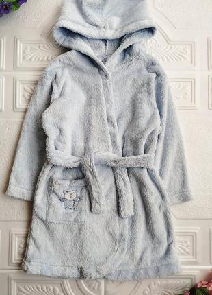 Махровый банный халат с капюшоном