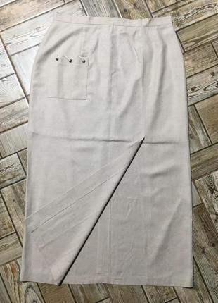 Натуральная юбка с разрезом,в составе лён!!