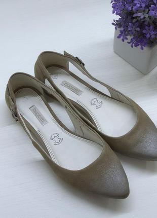 Туфли, лодочки, балетки, bugatti, натуральная кожа.