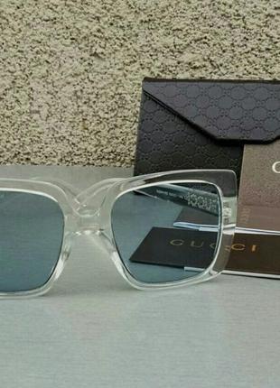 Gucci очки женские солнцезащитные в прозрачной оправе