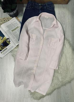 Лляна рубашка ніжно рожевого кольору від marks&spencer🌿