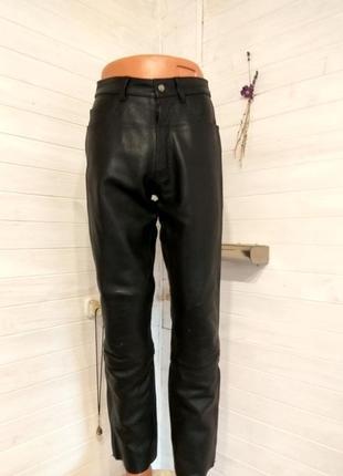 Мужские кожаные байкерские штаны takai48 р