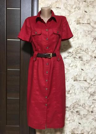 Идеальное льняное платье-халат ,100%лён,bonita