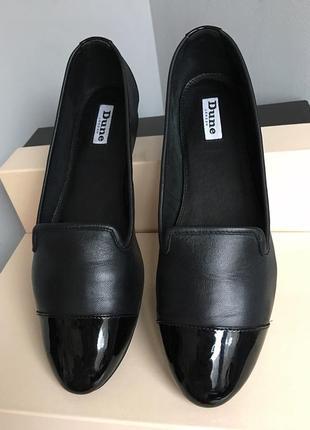 Туфли лоферы кожаные мягкие, с лаковым мысом, из натуральной кожи, 38 размер.