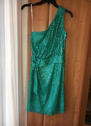 Вечернее / коктейльное платье с пайетками calvin klein