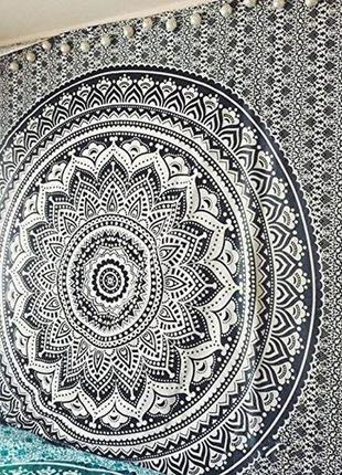 14-88 подстилка на пляж пляжный коврик яркая мандала пляжний килимок