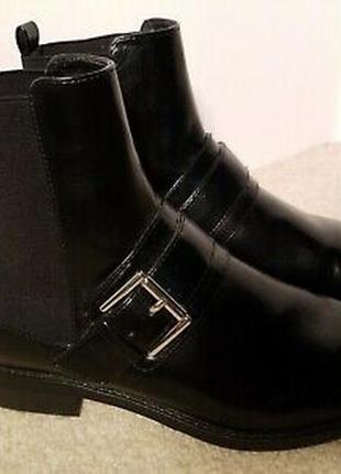 Ботинки zara basic 38р кожаные