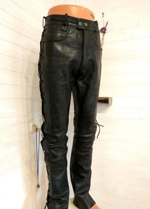 Мужские кожаные байкерские штаны louis 48р