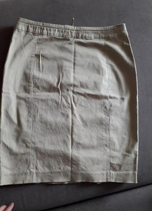 Бежевая джинсовая юбка