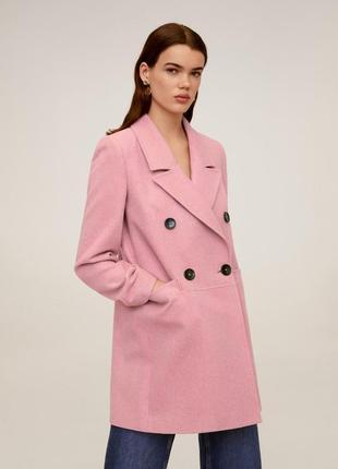 Базовое розовая пальто новое mango