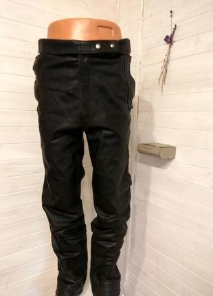 Мужские кожаные байкерские штаны