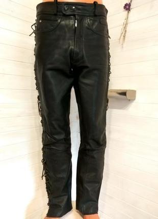 Мужские кожаные байкерские штаны hein gericke 52 р
