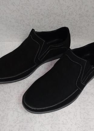 Кожаные мужские туфли лоферы jordan (джордан) 40р