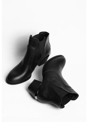 Кожаные ботинки из натуральной кожи на каблуке (демисезон)