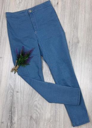 Стильные укороченные брюки на завышенной посадке