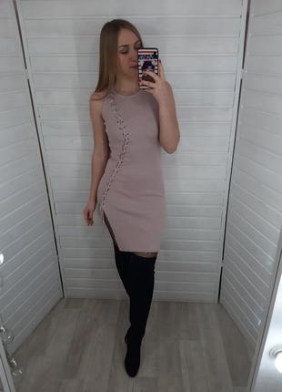 Нежно розовое платье yusme
