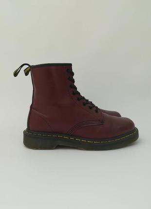 Массивные кожаные ботинки от dr. martens, водостойкие на весну