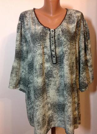 Вискозная большая блузка /62—64/brend ulla popken