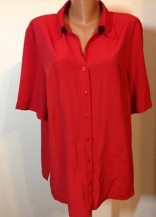Немецкая красная рубашка- блузка- 46—48/ brend ulka popken