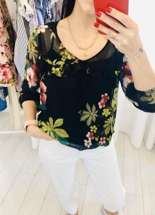 Воздушная рубашка блуза с рюшами river island