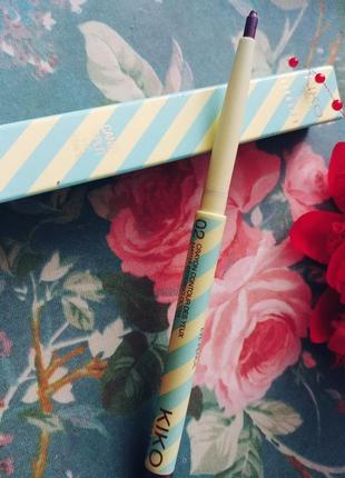Выкручивающийся карандаш для глаз kiko milano цвет сереневый