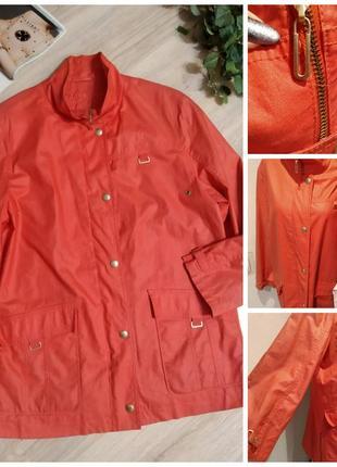 Стильная коралловая куртка парка ветровка