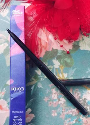 Выкручивающийся карандаш для глаз kiko milano цвет черный