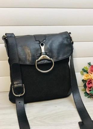 Кожаная сумка из натуральной кожи английского дизайнера jasper conran