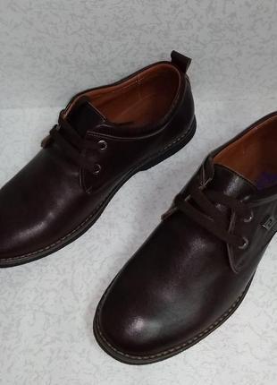 Кожаные мужские туфли полуботинки flamanti (фламанти)40р
