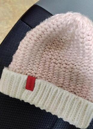 Шапка детская одежда шапочка вязанная вязка тёплая головной убор на девочку