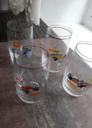 Набор стаканов с машинками гдр