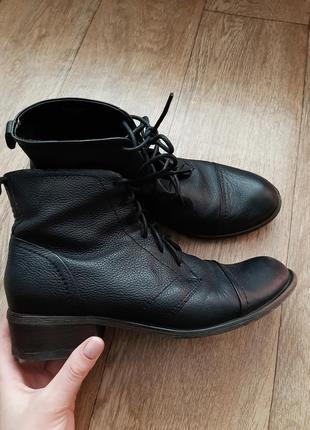 Кожаные ботинки челси со шнуровкой
