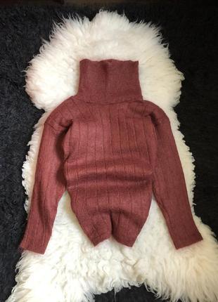 54% мохер свитер кофта горловина шерстяной шерсть мохеровый