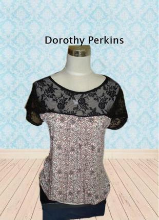 🌹🌹dorothy perkins стильная женская летняя футболка с кружевом 16 турция 🌹🌹🌹