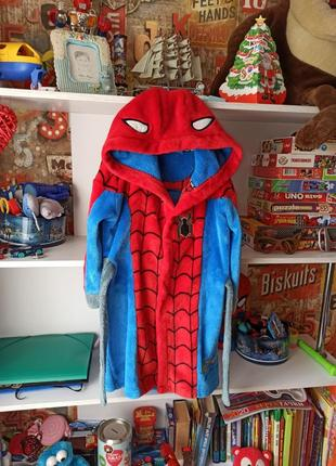 Классный халат tu marvel  spiderman человек паук 5-6 лет, 110-116 см