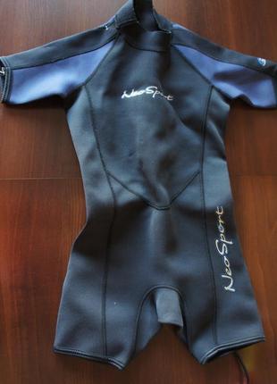 Гидро аква костюм для плавания ныряния для ребенка 5-6 лет neosport