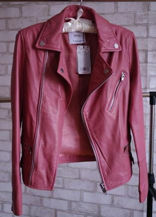 Последняя распродажа!!! стильная кожаная куртка косуха mango