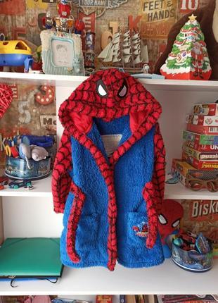 Классный халат george marvel  spiderman человек паук 3-4 года, 98-104