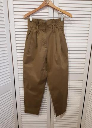 Стильные брюки штаны с высокой посадкой mango