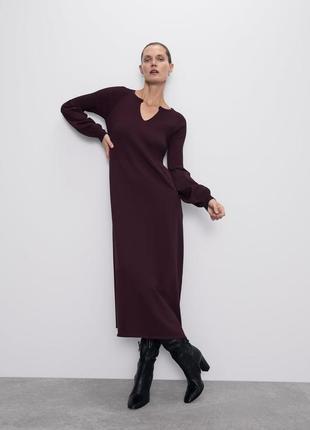 Трикотажное платье в рубчик от zara