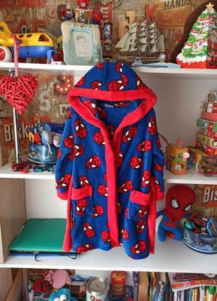 Плюшевый халат marvel  spiderman человек паук 3-4 года, 98-104