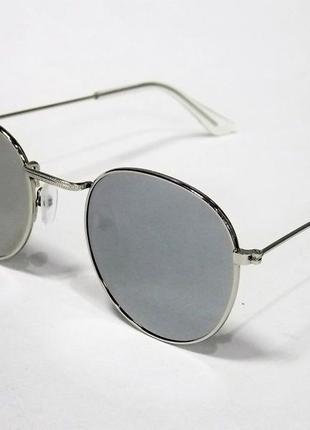 Очки солнцезащитные круглые зеркальные тишейды 1221