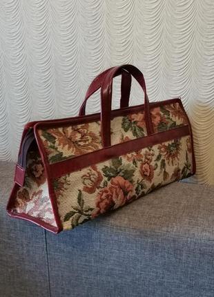 Сумка гобелен тоут жаккардовая гобеленовая сумка сумочка