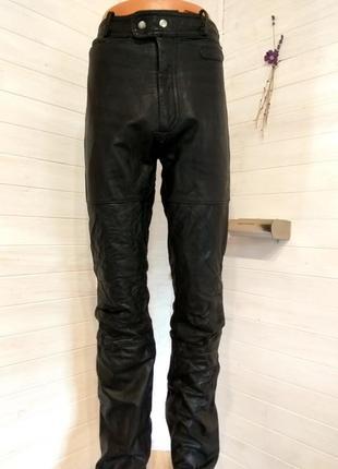 Мужские кожаные байкерские штаны 50 р