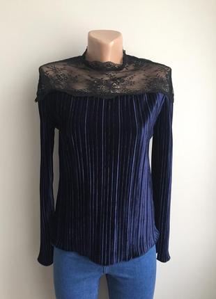 Блуза бархатная