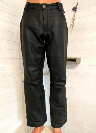 Мужские кожаные байкерские штаны veddelkleidung