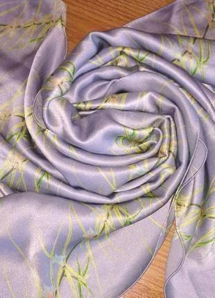 Fabric frontline zurich винтаж, палантин шарф из натурального шелка, шов роуль