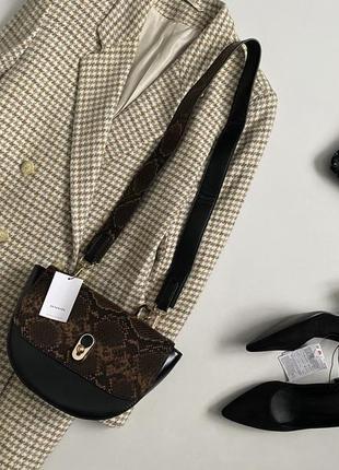 Новая шикарное сумка кросс боди с широким ремнем reserved