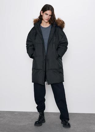 Пухова курточка/пальто zara
